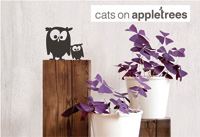 Cats on Appletrees Wandtattoos